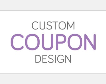 Custom COUPON Design | Print Ready Business Deal Ad | Shop Branding | Printable Advertising & Marketing | Creative Graphic Commercial