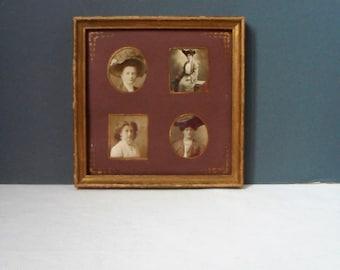 Edwardian Family Photographs EDWARDIAN Lady Photograph SEPIA PHOTOGRAPHS Framed ShabbyChic Gilded Frames HandDecorated Mounts Gold/Mulberry