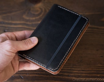 Moleskine Softcover Pocket Notebook w/ cover - black/chestnut