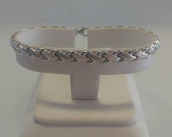 10k White Gold XX Bracelet
