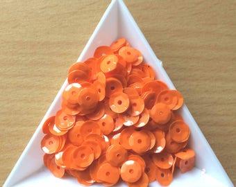Straw / cup orange opaque 6 mm in bulk