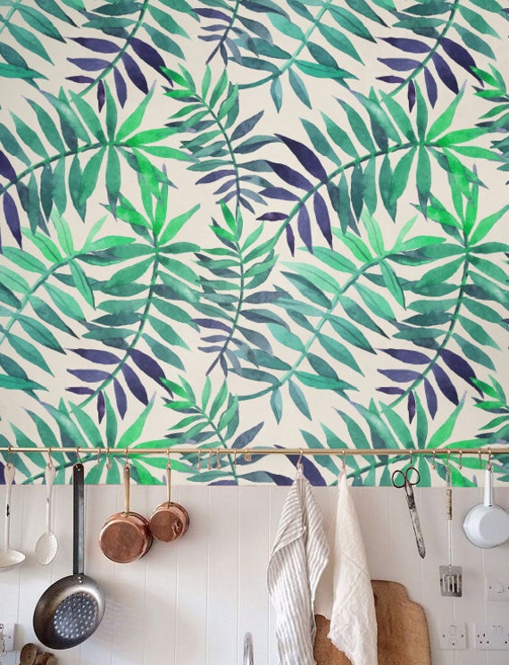 Palm Leaf Wallpaper Removable Self Adhesive