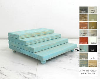 Wood Platforms Riser, Wood Jewelry Displays, Product Platforms, Retail Store Fixtures, Craft Show Displays
