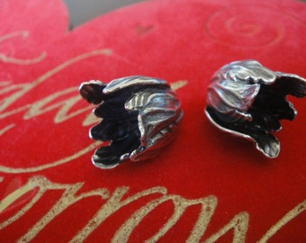 925 oxidized sterling silver bead cap 1 pc.
