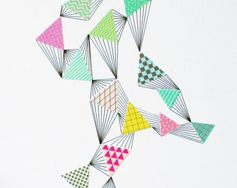 Playful Geometric - an original drawing