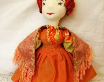 Abigail, a Waldorf inspired Victorian doll