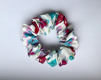 Hair scrunchie, butterfly hair scrunchy, pony tail tie, bun wrap, hair elastic