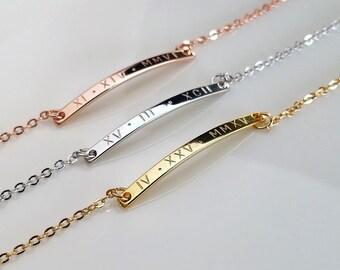 Bracelet for women custom bracelet engraved bracelet personalized bracelet name bracelet personalized bracelets for her bar bracelet