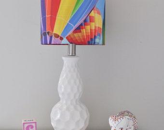 Hot air balloon lamp etsy rainbow balloon lampshade aloadofball Images
