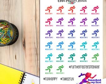 5 to 10K Running Planner Stickers | 10K | Running Stickers | Running Training Program | Fitness Stickers (S-226)