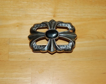 """Vintage 3.1/2"""" x 2.1/2"""" Inches Cross Belt Buckle."""