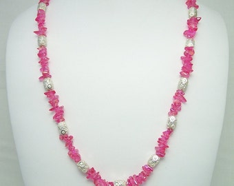 Mystic Pink Topaz Necklace Set 162S