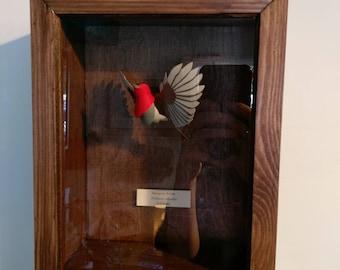Erithacus Rubecula. Paper-cut Robin Sculpture. 1:2 Scale. 2017
