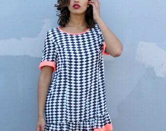 Women's Party Dress. Summer Dresses. Print Mini Dress Sizes Small, Medium, Large, XLarge