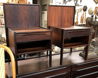 Mid-Century Danish Modern Rosewood Side Tables by Ib Kofod-Larsen
