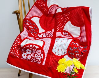 Red and White hand made Quilt
