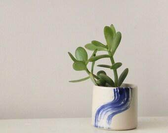 Succulent planter, Gift, White ceramic planter,  Ceramic plant pot, Home decor, Hand decorated, Ceramic Pots