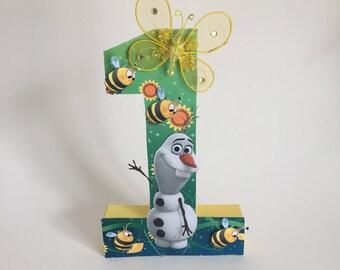 Olaf letters, Olaf one, first birthday, Olaf birthday, Frozen birthday, Olaf luau, Olaf hula, Olaf party, luau, Frozen Fever