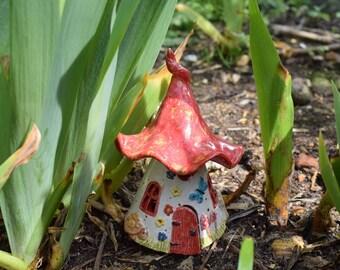 Ceramic Fairy House for Fairy Garden