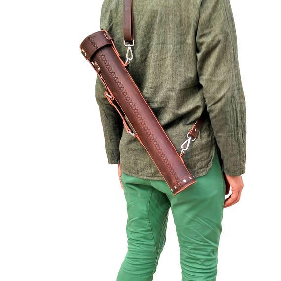 Leather document tube artist architect archaeologist bag malvernweather Image collections