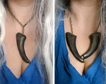 Two in one Dragon Claw Necklace Game Of Thrones Daenerys Targaryen