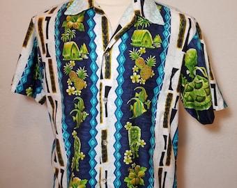 FREE  SHIPPING   1960  Men  Hawaiian  Shirt