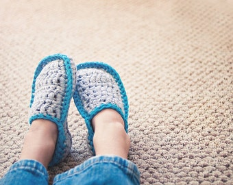 Kids House Slippers Crochet Pattern  No. 3