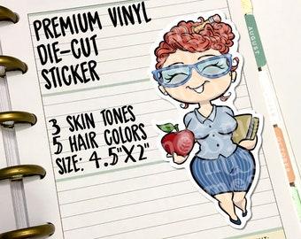 Teacher Principal Die-Cut Vinyl Sticker Decal for Travelers Notebooks Planners - Erin Condren, Filofax, Happy Planner, Miss Moss Stickers