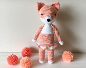 Amigurumi fox-handmade gift for girls- personal toys for her-woodland animal fox-crochet fox animal