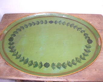 Large tray painted metal 19th century