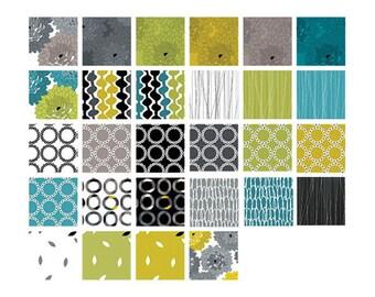 Fresh Bloom by Michele D'Amore, Fat Quarter Bundle for Benartex, 28 different prints