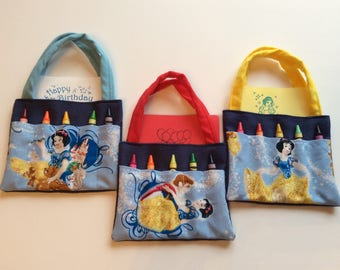 Snow White  Children's Crayon Bag and Customized Paper, Party Favor