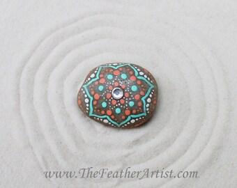 Hand-Painted Mandala Rock
