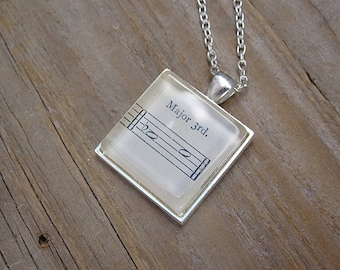 Musician Necklace - Major 3rd Ab-C - Gift for Musician