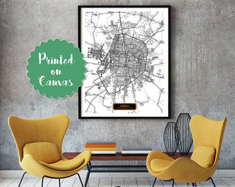 Mérida Mexico CANVAS Large Art City Map Mérida Mexico Art Print poster map art jt JackTravelMap
