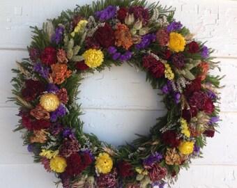 Spring Dried Flower Wreath