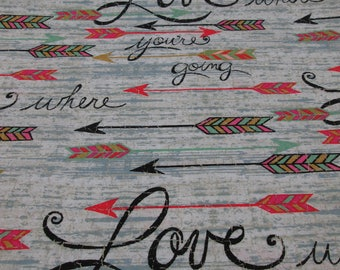 Cotton fabric 100% reason writing Love, Love cotton fabric sold by the yard