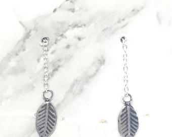 Sterling Silver Leaf Threaders