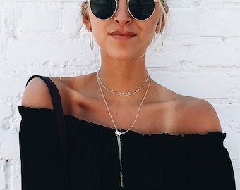 Lariat Necklace Bolo Necklace Minimal Jewelry Minimalist Jewelry Metal Jewelry LARIATTA NECKLACE