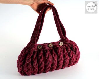 Knitted bag, ALL COLORS AVAILABLE, wool bag, hand bag, shoulder bag