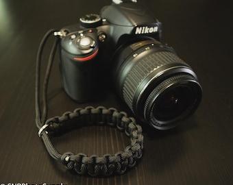 Paracord Camera Wrist Strap - Black