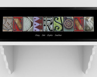 Architectural Elements III Color Family Name Prints - Personalized
