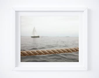 Father's Day gift - Nautical photography print - Ocean wall art - Sail boat wall decor- Neutral and minimal - Ship photo - 8x10 - Dad gift