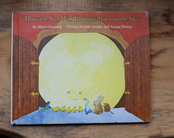 """1975 First Edition Hardcover of """"How the Sun Was Brought Back to the Sky"""" by Mirra Ginsburg"""