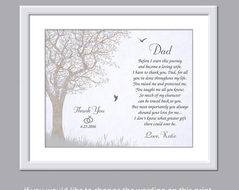 Father Wedding Gift - Father Of The Bride Gift - Dad Wedding Gift - Daughter Father Wedding Poem - Wedding Gift For Dad