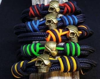 Pulsera náutica calavera- Nautical Bracelet skull -- Pulsera hombre -- Pulseras calavera