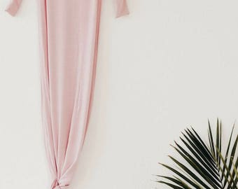 Bamboo Knotted Gown - Blush