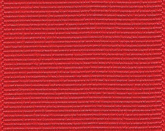 """3"""" Red Grosgrain Ribbon - Schiff/Offray - Made in USA 100% Polyester"""
