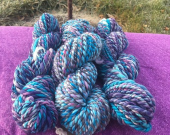 Hand spun yarn bundle