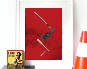 Pulp Fiction Poster Movie Print Illustration Art Pulp Fiction Print poster art print weapons illustration poster